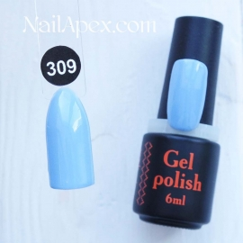 NailApex Gel Polish №309 гель-лак «» (6мл) ч/б