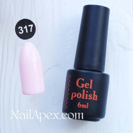 NailApex Gel Polish №317 гель-лак «» (6мл) ч/б