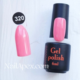 NailApex Gel Polish №320 гель-лак «» (6мл) ч/б