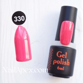NailApex Gel Polish №330 гель-лак «Свежий бутон» (6мл) ч/б