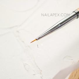 Кисть «YiKou» №1 — Линеарная (горчичная ручка)