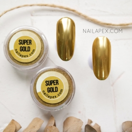 NAILAPEX зеркальная втирка «SUPER GOLD MIRROR» (золото)