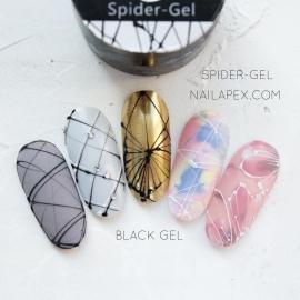 Паутинка гель Nailapex Professional (черный), 5гр.