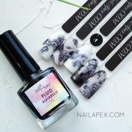 NAILAPEX «Акварельный Флюид» — №1 Черный AQUARELLE FLUIDE (5ml)