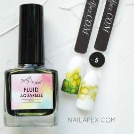 NAILAPEX «Акварельный Флюид» — №5 Салатовый AQUARELLE FLUIDE (5ml)