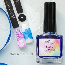 NAILAPEX «Акварельный Флюид» — №9 Синий AQUARELLE FLUIDE (5ml)