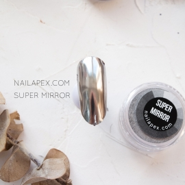 NAILAPEX зеркальная втирка «SUPER SILVER MIRROR» (серебро)
