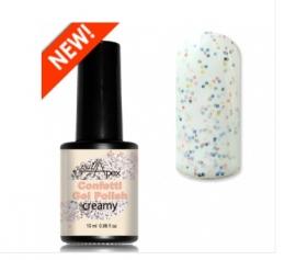 Nail Apex «Creamy» Confetti Gel Polish/Гель-лак Конфетти «Кремовый» (молочный с мелкими цветными пайетками)