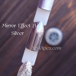 MIRROR effect Silver №1 зеркальный эффект