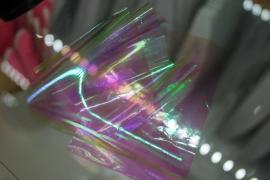 Фольга битое стекло (Белая голограмма с розовым оттенком)