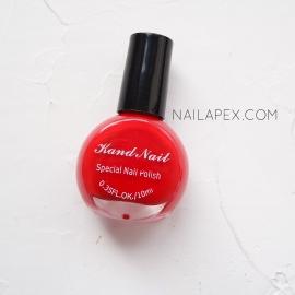 Лак для стемпинга Kand Nail — красный (10мл)