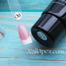 NailApex Acryl Gel №09 Soak Off (60ml) (в тюбике) — Бежево-натуральный UV/LED Акригель для ногтей