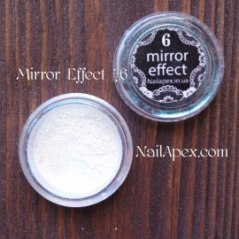 MIRROR effect White Hologram №6 зеркальный эффект