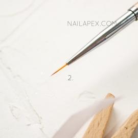 Кисть «YiKou» №2 — Линеарная (горчичная ручка)