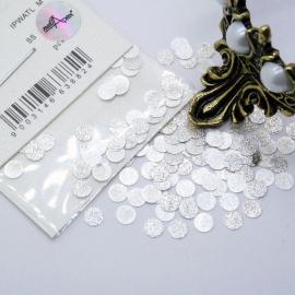 Декор Круги большие металлические в серебре (в пакете)
