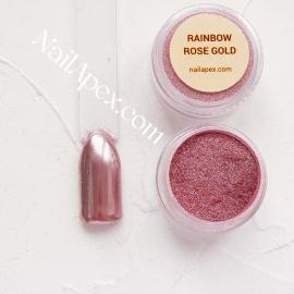 NAILAPEX Радужная втирка «RAINBOW ROSE GOLD» (Радужная втирка с розово - золотым оттенком)