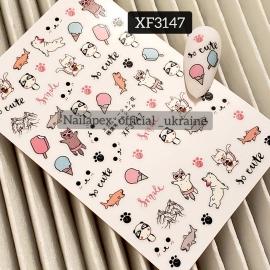 Наклейка (XF3147) So Cute
