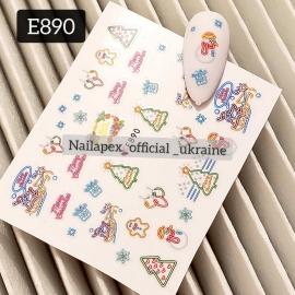 Наклейка (Е890) Неоновый Новый Год
