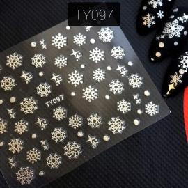 Наклейка (TY097) Снежинка