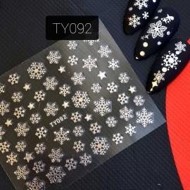 Наклейка (TY092) Снежинка