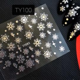 Наклейка (TY091) Снежинка