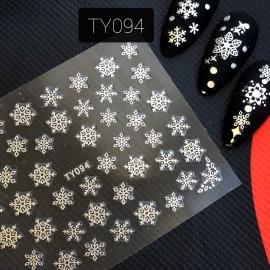 Наклейка (TY094) Снежинка