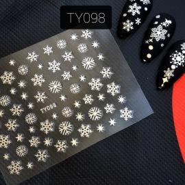 Наклейка (TY098) Снежинка