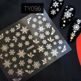 Наклейка (TY096) Снежинка