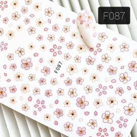 Наклейка (F087) Цветочек