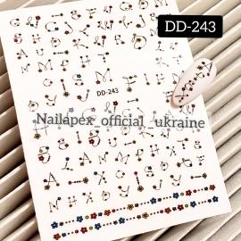 Наклейка (DD-243) Цветочные буквы