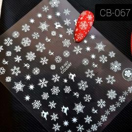 Наклейка (CB-067) Снежинка