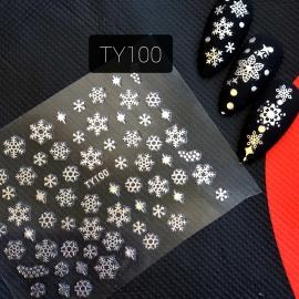 Наклейка (TY100) Снежинка