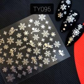 Наклейка (TY095) Снежинка