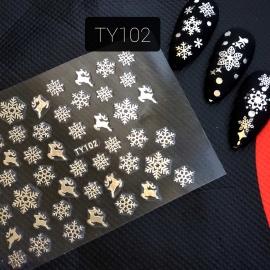 Наклейка (TY102) Снежинка