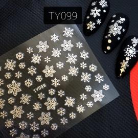 Наклейка (TY099) Снежинка