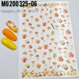 Наклейка «Orange Flower»