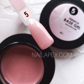 Nailapex «FRENCH Base» №5 (30g) Камуфлирующая база с мелким перламутром