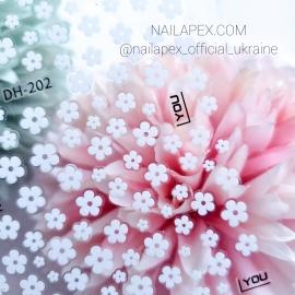 Наклейка (DH-202) Белый цветочек