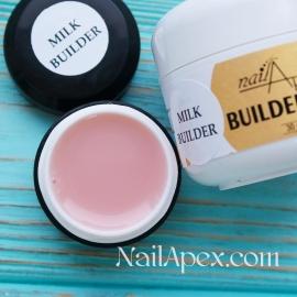 NailApex Моделирующий Крем гель «Milk Builder» (30g) Builder Gel — гель для ногтей