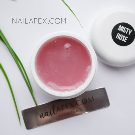 Акрилгель Nailapex «Misty Rose» (30g.) (в баночке) — Темно-розовый камуфляж (полигель для ногтей)