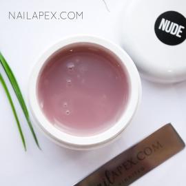 Акрилгель NailApex «Nude» (50g.) (в баночке) — Камуфляж светло-бежевый (полигель для ногтей)