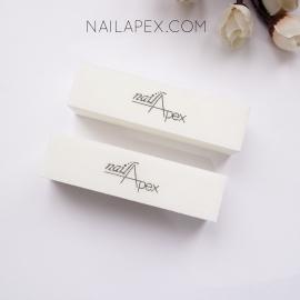 NailApex Баф-брусок для ногтей 120/120 — белый