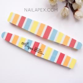 Nailapex Баф-полосатик 100/180 — полосатый баф (жёсткий)