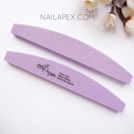 NailApex Баф для ногтей 100/180 — фиолетовый (средней жесткости)