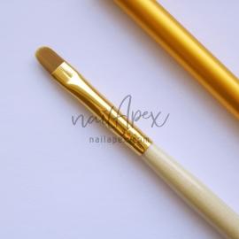 Кисть язычек №6 для геля/акрилгеля (ручка с колпачком)