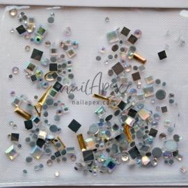Стразы «Crystal» Стразы Микс: голограммный квадрат