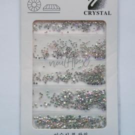 Стразы «Crystal» микс голограммных камней (в упаковке 6 размеров)