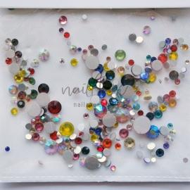 Стразы «Crystal» микс разноцветных камней
