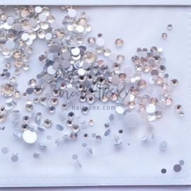 Стразы «Crystal» микс белых камней