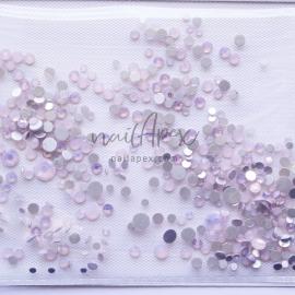 Стразы «Crystal» мутный опал: розовые